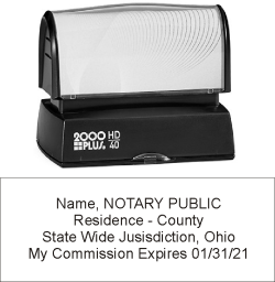 HD40NS - 2000 Plus HD-40 Pre-Inked Notary Stamp 7/8in X 2-5/16