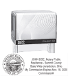 PTR60ANSWSCOM - PTR60 Self-Inking Stamp<br> Notary Stamp w/Seal and Commission