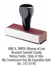 RSANS - Rubber Stamp<br>Ohio Attorney Notary Stamp