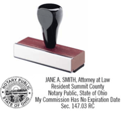 RSANSWS - Rubber Stamp<br>Ohio Attorney Notary Stamp w/Seal