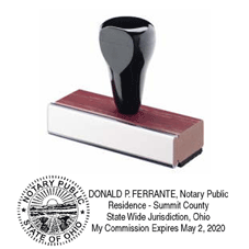 RSNSWS - Rubber Stamp<br>Ohio Notary Stamp w/Seal