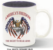 "2AMUG - 2nd Amendment Coffee Mug<p><strong><span style=""font-size: 20px; font-family: Tahoma;"">11oz. White Ceramic Mug</span></strong></p>"