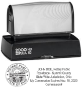 HD-50 evostamp Pre-Inked Stamp<br> Notary Stamp w/Seal and Commission